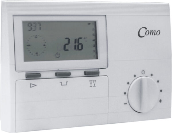 Como time and temp battery operated programmable digital thermostat-186