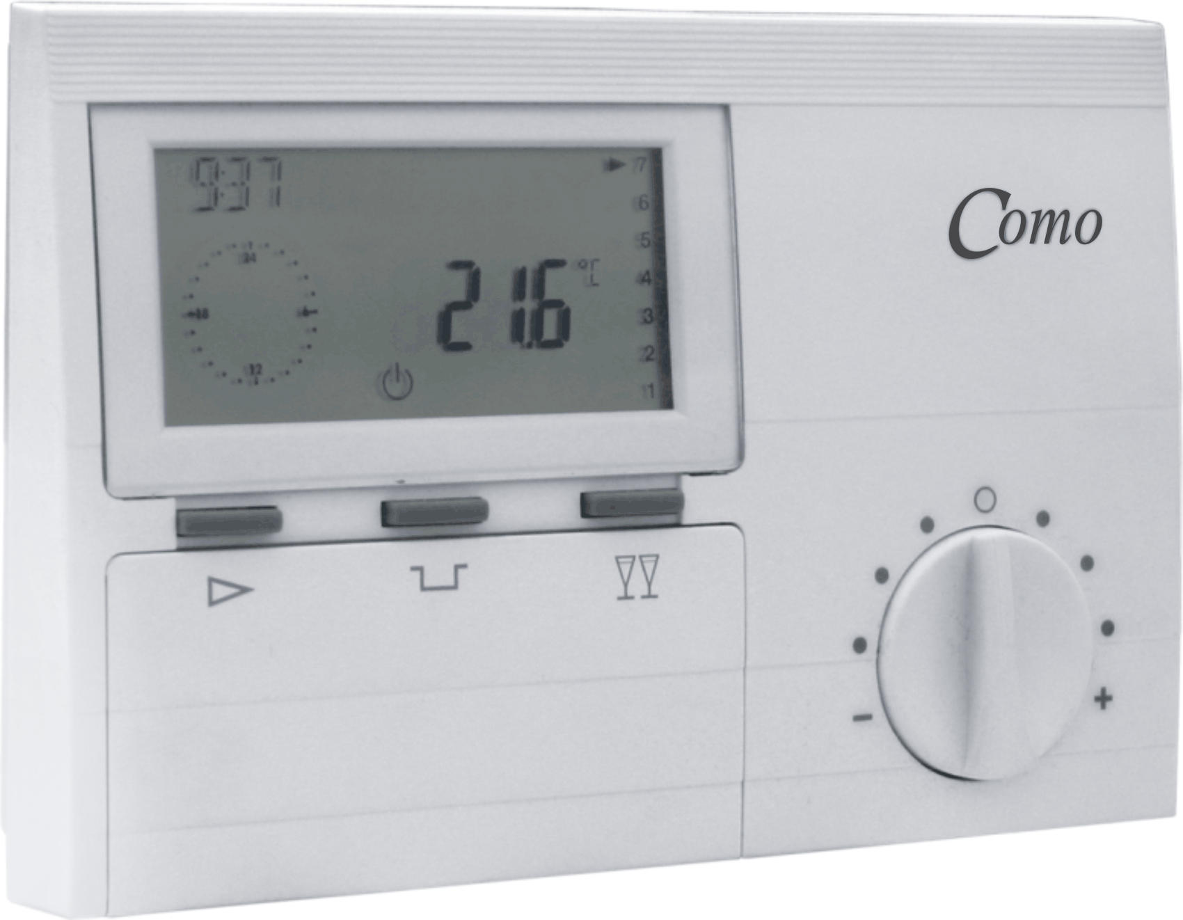 Como time and temp battery operated programmable digital thermostat-0