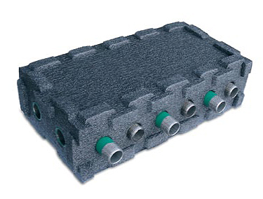 Multi Link Box 5 x 28mm ports, 2 in, 3 out Insulated-0