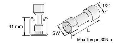 Unistrut channel nut (long spring M8)-0