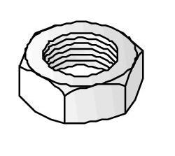 Unistrut hexagon screw (M8 x 60mm)-1211