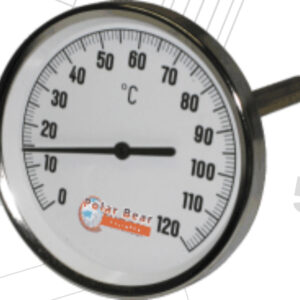 Polar Bear Large Thermometer 100mm x 150mm -0