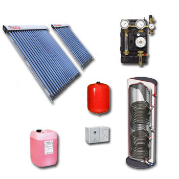 Polar Bear on roof 40 tube solar panel pack with cylinder-1129