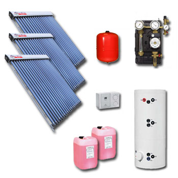 Polar Bear on roof 60 tube solar panel pack with cylinder-24