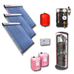 Polar Bear on roof 60 tube solar panel pack with cylinder-1128