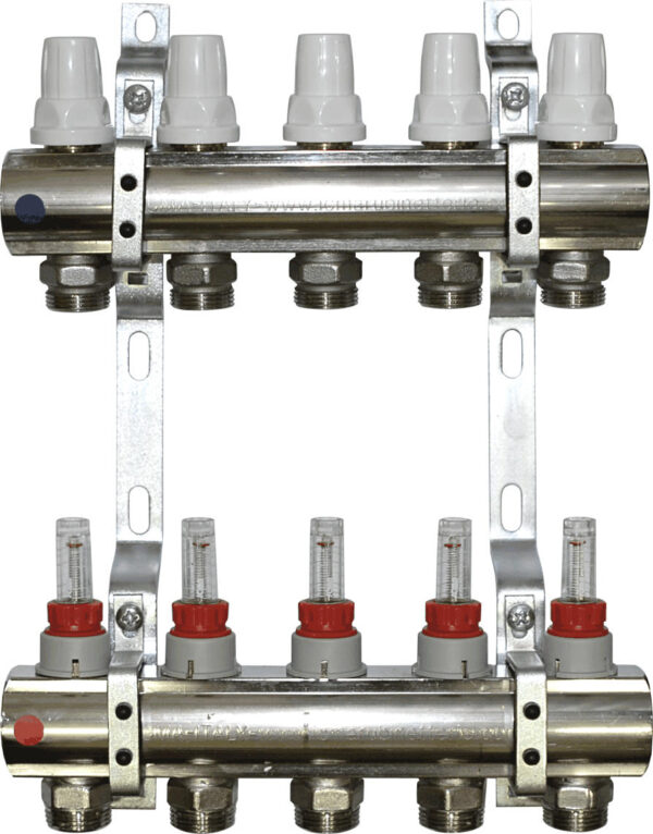 Aquaflow 4 port chrome plated manifold section-177