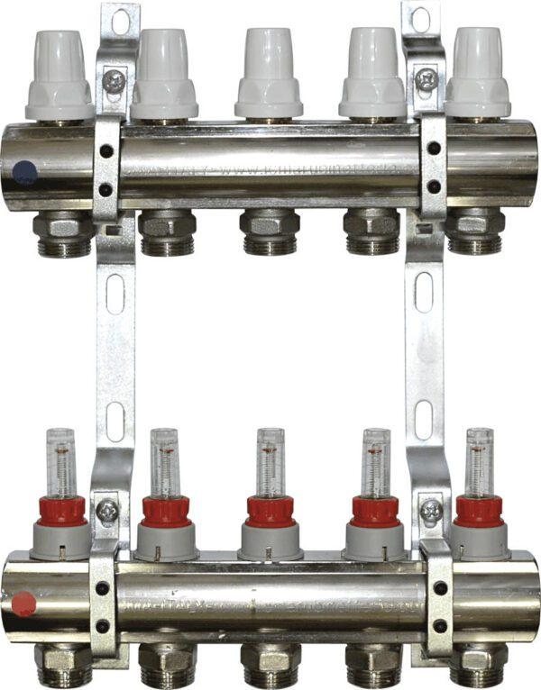 Aquaflow 6 port chrome plated manifold section-179