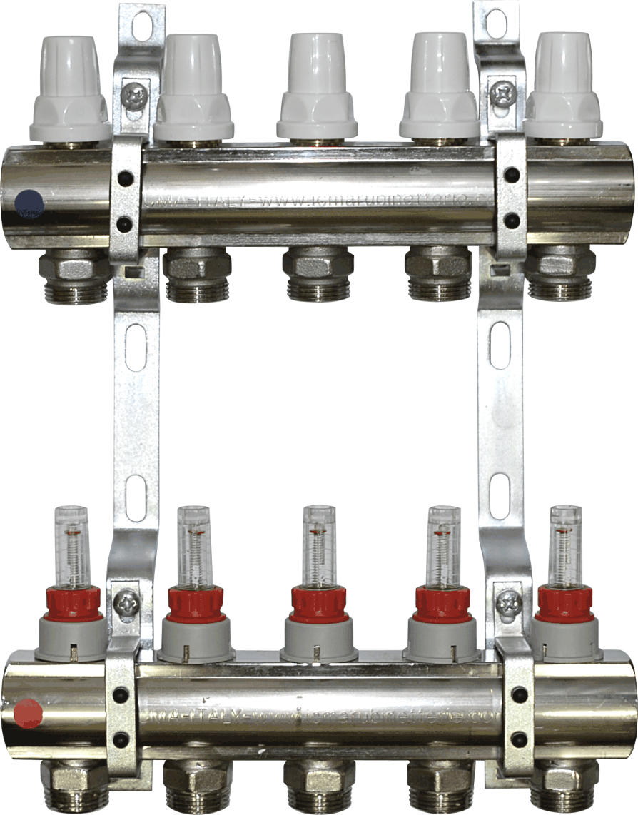 Aquaflow 6 port chrome plated manifold section-0