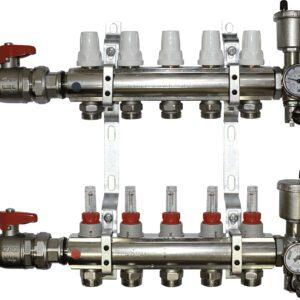 Aquaflow 10 Port chrome plated manifold complete -0