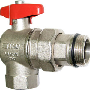 """Aquaflow angle ball valve on/off 1"""" connection -0"""