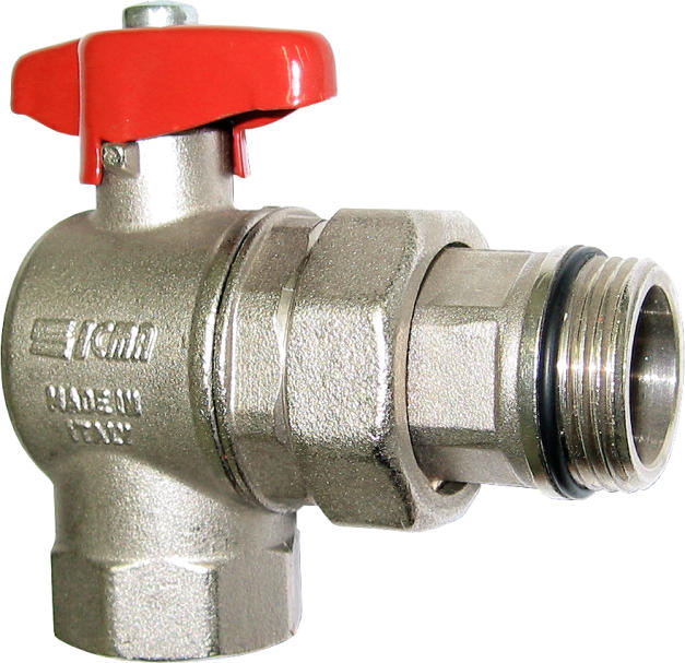 "Aquaflow angle ball valve on/off 1"" connection -0"