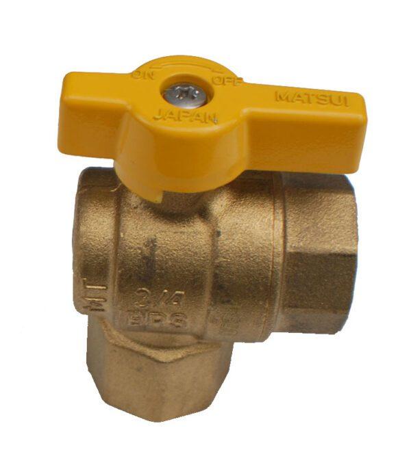 "Gastite 1/2"" 90o gas ball valve-0"