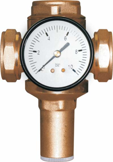 "1"" Pressure reducing valve F/F (preset 3 bar) -0"