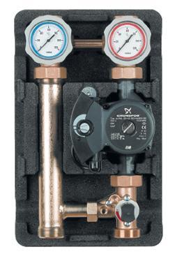 """Heating pump station 1 1/4"""" - 3 way mech mixer RS 30/4 Pump-0"""
