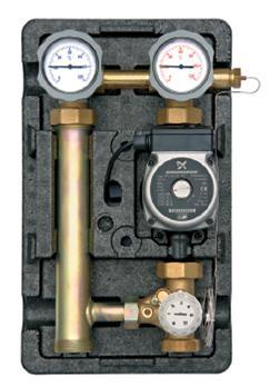 "Underfloor pump station 1"" - 3 way mechanical adjustable mixer 20-80oC (Wilo RS 26/60 Pump)-0"