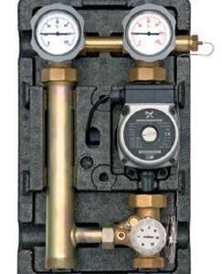 "Underfloor pump station 1"" - 3 way mechanical adjustable mixer 20-80oC (Wilo Star E 25/1-5 Pump)-0"