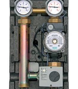 "Underfloor pump station 1"" - 3 way electronically adjustable mixing valve 20 - 80oC (RS 25/60 Pump)-0"