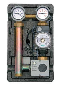 "Underfloor pump station 1"" - 3 way electronically adjustable mixing valve 20 - 80oC (Star E 25/1-5 Pump)-0"