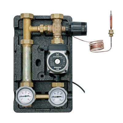 "Return temperature regulation pump station 1"" - 3 port adjustable mechanical mixing valve 20-80oC (RS 25/60 Pump)-0"