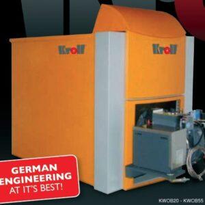 20KW Kroll Waste oil boiler complete with boiler, burner, external fuel delivery system, 4 meters single wall flue-0