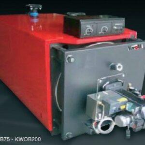 68KW Kroll Waste oil boiler complete with boiler, burner, external fuel delivery system, 4 meters single wall flue-0