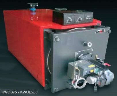 89KW Kroll Waste oil boiler complete with boiler, burner, external fuel delivery system, 4 meters single wall flue-0